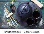 Chinese Tea Set And Chopsticks...
