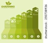garden work infographic...   Shutterstock .eps vector #250738936