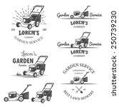 Set Of Vintage Garden Service...