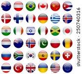 world flags collection. 36 high ... | Shutterstock . vector #250740316