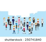 people in different occupation... | Shutterstock .eps vector #250741840