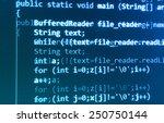 coding programming source code... | Shutterstock . vector #250750144