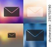 envelope icon on blurred... | Shutterstock .eps vector #250753780