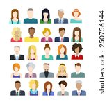set of casual stylish... | Shutterstock .eps vector #250756144