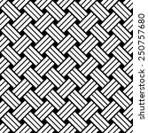 seamless black and white weave... | Shutterstock .eps vector #250757680