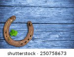 Stock photo lucky charms wooden background 250758673