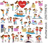 love couples doing different... | Shutterstock .eps vector #250759870