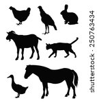 vector file of farm animals... | Shutterstock .eps vector #250763434