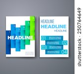 templates. design set of web ... | Shutterstock .eps vector #250764649