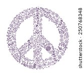 vector illustration of peace
