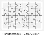 set of twenty four puzzle... | Shutterstock .eps vector #250773514