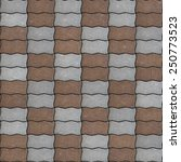 brown and gray paving slabs as... | Shutterstock . vector #250773523