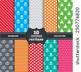 seamless patterns and textures. ...   Shutterstock .eps vector #250776820