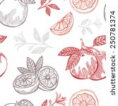 elegant seamless pattern with... | Shutterstock . vector #250781374