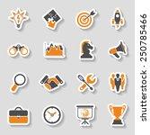 business icon sticker set  ... | Shutterstock .eps vector #250785466
