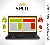 split testing a b comparison... | Shutterstock .eps vector #250786036
