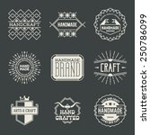 retro design insignias... | Shutterstock .eps vector #250786099