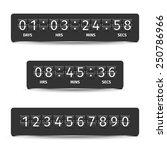 countdown clock timer analog... | Shutterstock .eps vector #250786966