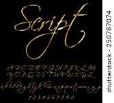 gold font | Shutterstock .eps vector #250787074