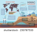 mining infographics set with... | Shutterstock .eps vector #250787533