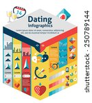 dating infographics set with... | Shutterstock .eps vector #250789144