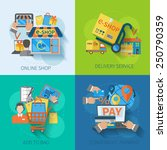 shopping e commerce concept... | Shutterstock .eps vector #250790359