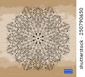 background with lace ornaments. ... | Shutterstock .eps vector #250790650