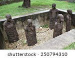 statues at the slavery monument ... | Shutterstock . vector #250794310