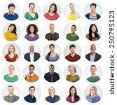 people faces portrait... | Shutterstock . vector #250795123