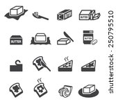 butter icon | Shutterstock .eps vector #250795510