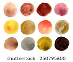 watercolor circle hand drawn... | Shutterstock .eps vector #250795600