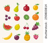 vector icons of different... | Shutterstock .eps vector #250803814