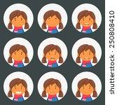 set round avatars with fun... | Shutterstock .eps vector #250808410