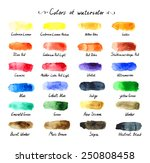 Colors Of Watercolor. The...