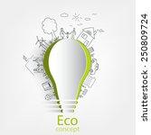 light bulb idea  creative... | Shutterstock .eps vector #250809724