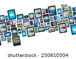 mobility and digital wireless... | Shutterstock . vector #250810504