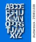 set of alphabet text design | Shutterstock .eps vector #250811338