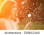 young spring fashion woman... | Shutterstock . vector #250812163
