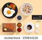 breakfast   vector illustration | Shutterstock .eps vector #250814218