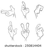 hands cartoon | Shutterstock . vector #250814404