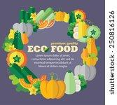 eco food  vegetables  pumpkin... | Shutterstock .eps vector #250816126