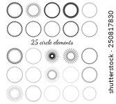 circle elements | Shutterstock .eps vector #250817830