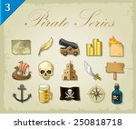 vector pirate icons | Shutterstock .eps vector #250818718