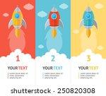 vector rocket space ship flat...   Shutterstock .eps vector #250820308