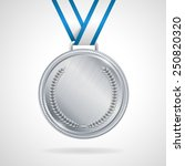 champion silver medal with... | Shutterstock .eps vector #250820320