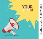 vector illustration megaphone...   Shutterstock .eps vector #250820326
