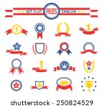 ribbons and banners series... | Shutterstock .eps vector #250824529