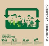 ecology concept. save world... | Shutterstock .eps vector #250825840