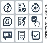 quiz related vector icon set | Shutterstock .eps vector #250831978
