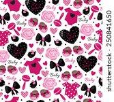 pink kids pattern   Shutterstock .eps vector #250841650